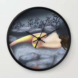Sleeping Mermaid Wall Clock