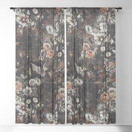 Night Garden V Sheer Curtain