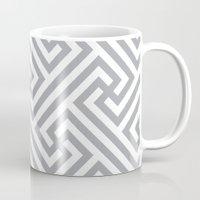 labyrinth Mugs featuring Labyrinth. by Massimiliano Frattini