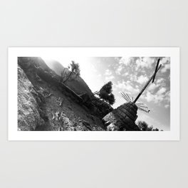 Holy view of abandoned monastery \\ Spain Art Print