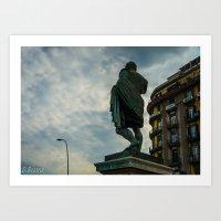 Estatua Art Print