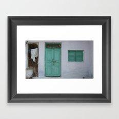 INDIA - Turquoise Doorway  Framed Art Print