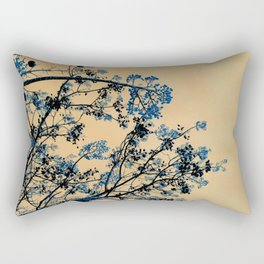 Beckon the Blue Rectangular Pillow