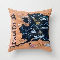 alaska Throw Pillows featuring ALASKA by Christiane Engel