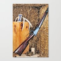 winchester Canvas Prints featuring Winchester Rifle by Captive Images Photography