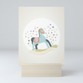 ROCKING HORSE Mini Art Print