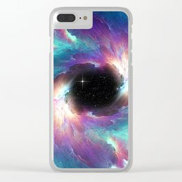 Black Hole Clear iPhone Case