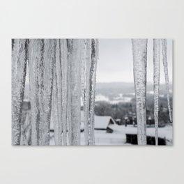 Snow Landscape Through Ice Canvas Print