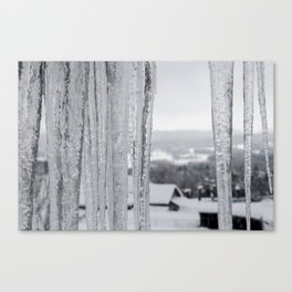 Snow Landscape Through Ice Canvas Print