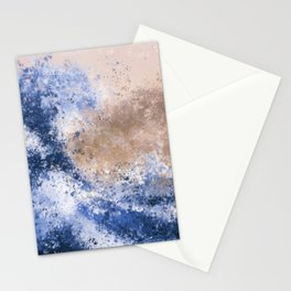The Great Wave Inspired Abstract Painting Stationery Cards