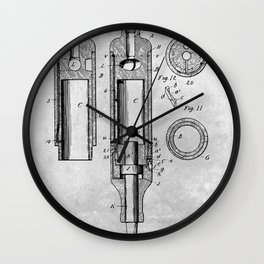 Pneumatic tool Wall Clock
