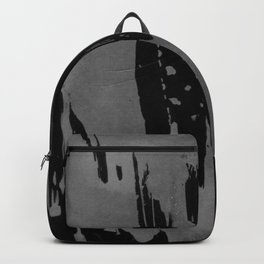 Modern black gray hand painted watercolor pattern Backpack