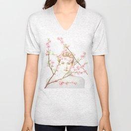Peach Blossom Unisex V-Neck
