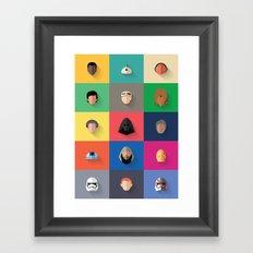 Force Awakens Flat Design Set Framed Art Print