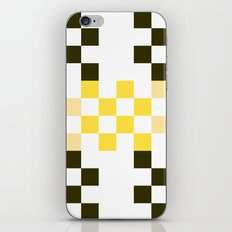 yellow pixel, squares, checkerboard, x, five, racing car, contemporary pattern, abstract design, art iPhone & iPod Skin