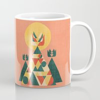 sunset Mugs featuring Sunset Tipi by Picomodi