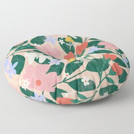 Spring Butterfly Bouquet in Peach  Floor Pillow