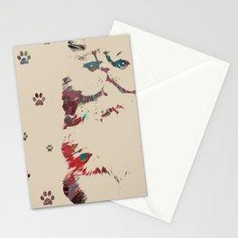 Art Cat Print Stationery Cards