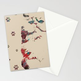 Art Cat Print Stationery Cards