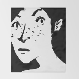 Women portrait Throw Blanket