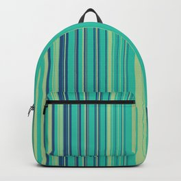 Deep Sea Green Candy Lines Backpack