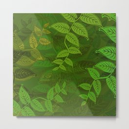 Trailing Green Metal Print