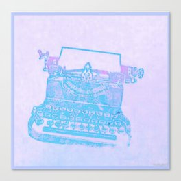 Violet typewriter Canvas Print