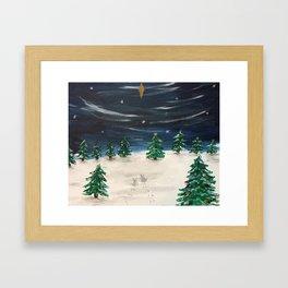 Christmas Snowy Winter Landscape Framed Art Print