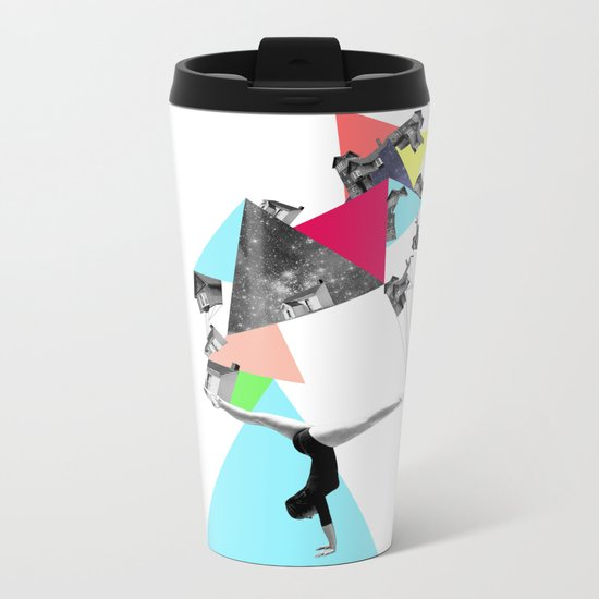 SHE WAS STRANGE Metal Travel Mug