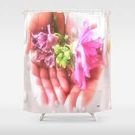 The Cycle of Life by Saribelle Rodriguez Shower Curtain