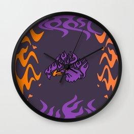 purple eagle Wall Clock