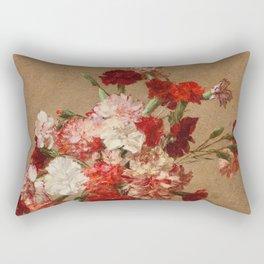 Henri Fantin Latour - Carnations Without Vase Rectangular Pillow