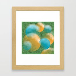 frosted ornaments Framed Art Print