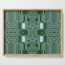 Computer Geek Circuit Board Pattern Serving Tray