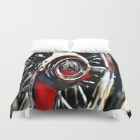 pacific rim Duvet Covers featuring rim by LeicaCologne Germany