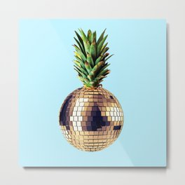 Ananas party (pineapple) blue version Metal Print