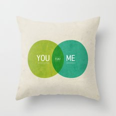 U & I = Fun 2013 Calendar Throw Pillow