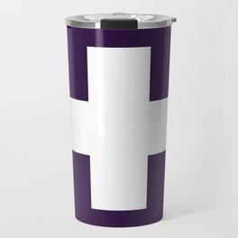 Swiss Cross Purple Travel Mug