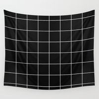 grid Wall Tapestries featuring Grid by fneo