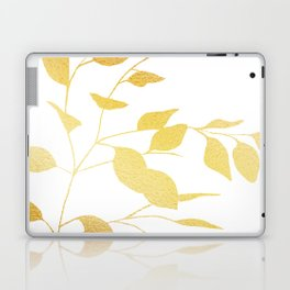 Gold Leaves Laptop & iPad Skin