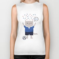 sports Biker Tanks featuring Sports Cat by The Cat