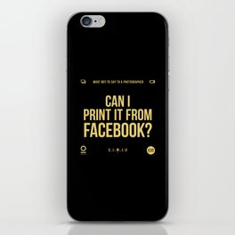 Facebook iPhone Skin