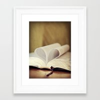bible Framed Art Prints featuring Love Bible by Vintage Rain Photography