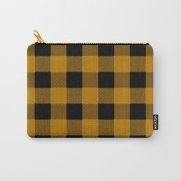 Yellow Buffalo Plaid Carry-All Pouch