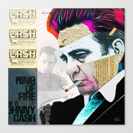 Johnny Cash - The Man In Black Canvas Print