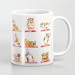 English Bulldog Yoga Watercolor Coffee Mug