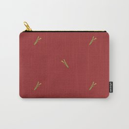 Mantis on Red Carry-All Pouch