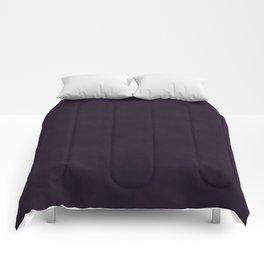 Elegant classy dark purple plum distressed vintage antique look Comforters