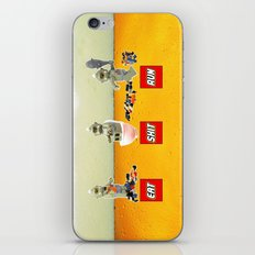 EAT SHIT RUN CYCLOPS LEGO iPhone & iPod Skin