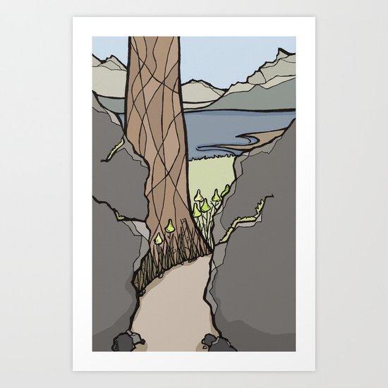 Trail Tree Art Print